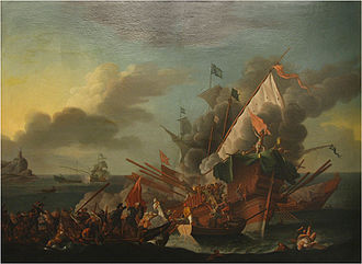Spanish Navy Marines - Spanish Navy marines fighting in the Battle of Lepanto, 1571