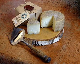 Farmstead cheese - A farmstead goat's milk cheese