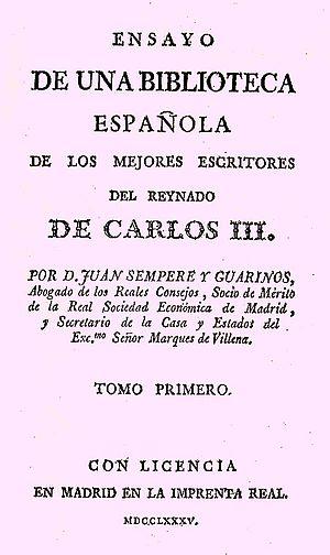 Sempere y Guarinos, Juan (1754-1830)