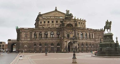 Gottfried Sempers Dresden Semper Opera House Of 1870 Incorporating Both Baroque And Renaissance Architectural Features
