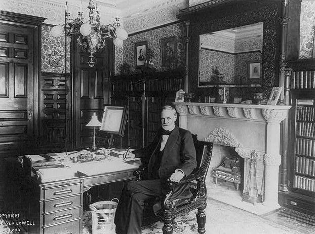 Senator John Sherman in his office (c1894)