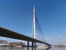 Serbia, Belgrade, Ada Bridge 2013-03-17.jpg