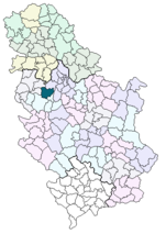 Location of Ub within Serbia