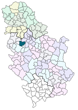 mapa srbije ub Opština Ub — Vikipedija, slobodna enciklopedija mapa srbije ub