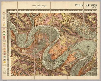 Service géologique des mines, Nord-Ouest - Paris et ses environs, 1890 - David Rumsey.jpg