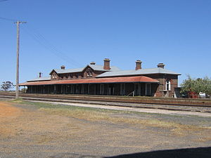 South Australia–Victoria border dispute - Serviceton railway station in the formerly-disputed territory