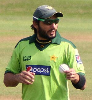 Shahid Afridi - Afridi in the field during a 50-over warm-up match against Somerset at the County Ground, Taunton, during Pakistan's 2010 tour of England