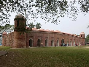 Bangladesh - The 15th-century Sixty Dome Mosque built during the Bengal Sultanate is now a UNESCO World Heritage Site