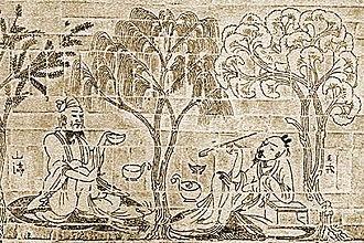 Seven Sages of the Bamboo Grove - Image: Shan Tao and Wang Rong