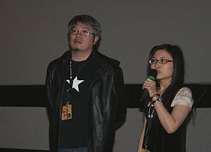 Sheng Zhimin - Director Sheng Zhimin (left) at a film festival in Vesoul
