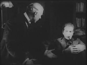 Eille Norwood - Eille Norwood as Sherlock Holmes pictured with Hubert Willis as Dr. Watson
