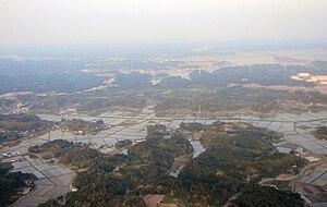Shimōsa Plateau - Rice paddies on Shimōsa Plateau, Shibayama, Chiba Prefecture