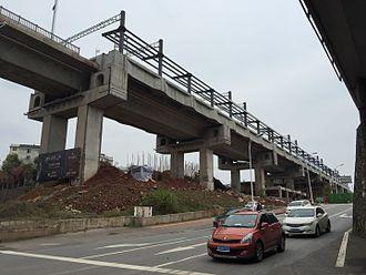 Changsha–Zhuzhou–Xiangtan intercity railway - Construction site of Shidai railway station in Tianxin, Zhuzhou