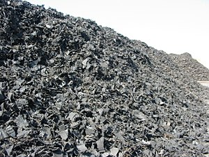 Tire recycling - Shredded tires