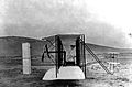 Side view of the original Wright Aeroplane near Kitty Hawk, NC. 1903.10466 A.S..jpg