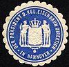 Siegelmarke Der Präsident der Königlichen Eisenbahn Direktion in Hannover W0229532.jpg