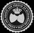 Siegelmarke Dienst Ihrer Hoheit der Fürstin zu Schaumburg-Lippe W0246238.jpg