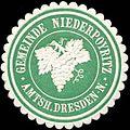 Siegelmarke Gemeinde Niederpoyritz Amtsh. Dresden-Neustadt W0314274.jpg