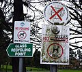 Signs, Drumglass Park, Belfast - geograph.org.uk - 708487.jpg