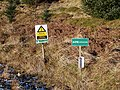 Signs in Hafren Forest - geograph.org.uk - 1114242.jpg