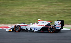 Simon Trummer - Trummer competitng at the Silverstone round of the 2014 GP2 Series.