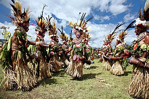 A Sing Scene In Wabag Enga Province Papua New Guinea