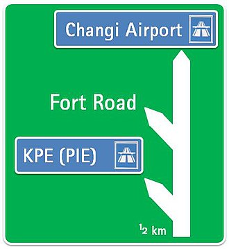 Road signs in Singapore - Image: Sing signadvanceexit