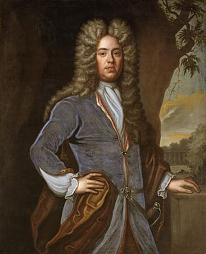 Sir John Aubrey, 3rd Baronet - Portrait, oil on canvas, of Sir John Aubrey, 3rd Baronet (1680–1743)