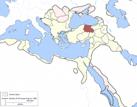 Location of Rûm Eyaleti / Sivas Eyaleti