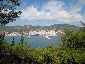 Skopelos - View of Chora