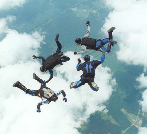 Skydiving 4 way