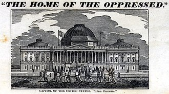Michael Shiner - A group of shackled slaves walk past the U.S. Capitol in 1836