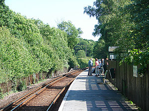 Smallbrook Junction railway station - Waiting for an Island Line train at Smallbrook Junction station.