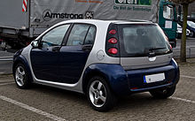 Smart Forfour 1.3 Passion (W 454) – Heckansicht, 1. Mai 2012, Ratingen.jpg