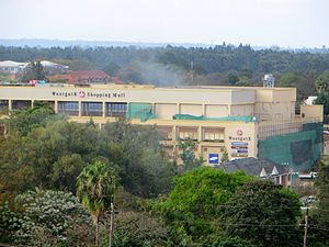 Westgate shopping mall attack - Smoke over Westgate shopping mall on 23 September 2013