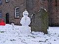 Snowmen at Inverkip Church - geograph.org.uk - 1159820.jpg