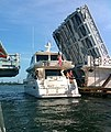 South side of Venetian Causeway East Drawbridge with only its east half raised for boat.jpg