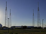 SpaceX Falcon 9 horizonal on pad for CRS-2 mission (8529866140).jpg