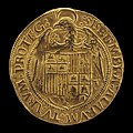 Spanish 16th Century, Eagle Displaying Crowned Shield of Aragon and Castile (reverse), 16th century, NGA 45498.jpg