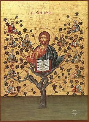 True Vine - Icon of Christ as the true Vine