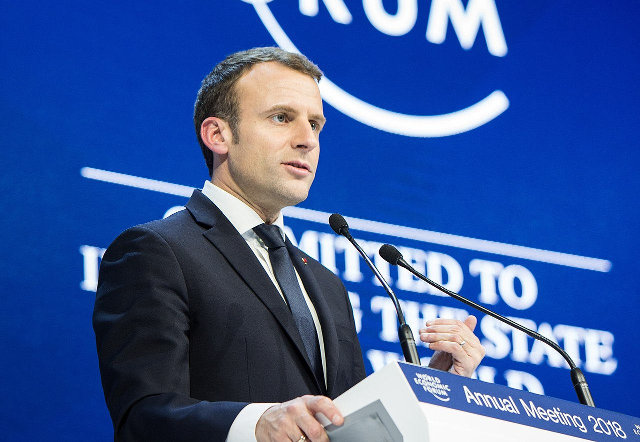 Special Address by Emmanuel Macron, President of France (39907045951)-cropped.jpg