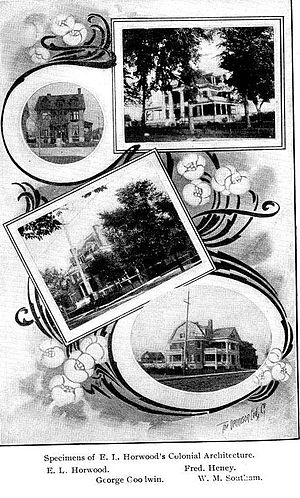 Edgar Lewis Horwood - Specimens of Edgar Lewis.Horwood (architect) Colonial Architecture 1904 Ottawa, Ontario