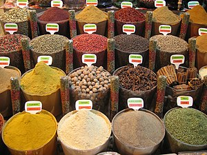 English: spices: (Turkey, travel, Istanbul, sp...