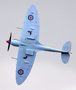 "Wing configuration - The Spitfire wing may be classified as: ""a conventional low-wing cantilever monoplane with unswept elliptical wings of moderate aspect ratio and slight dihedral""."