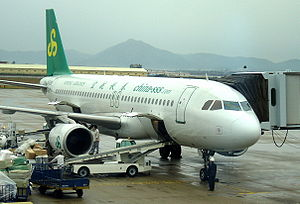 Spring Airlines Airbus A320 on the tarmac at X...