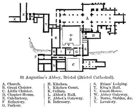 Plan of Bristol Cathedral Published in Encyclopaedia Britannica 1902 St-augustines-abbey-bristol.jpg