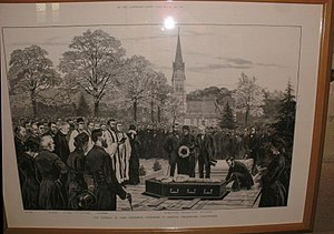 Lord Frederick Cavendish - Image: St Peter's Church, Edensor funeral of Lord Frederick Cavendish (1836–1882) 1