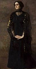 Spiritualist portrait of a woman (Medium).