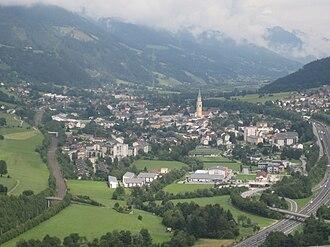 Rottenmann - Rottenmann seen from the Strechau Castle
