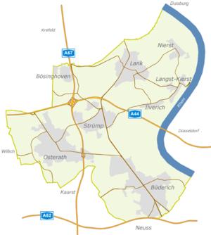 Meerbusch - Street map of Meerbusch